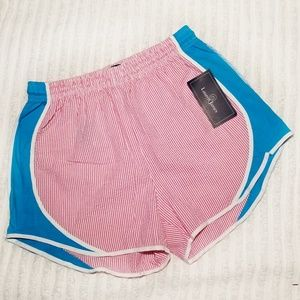 NWT Lauren James Seersucker Shorties Pink Large